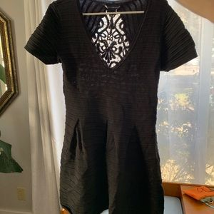 Dress with open pattern back French connection